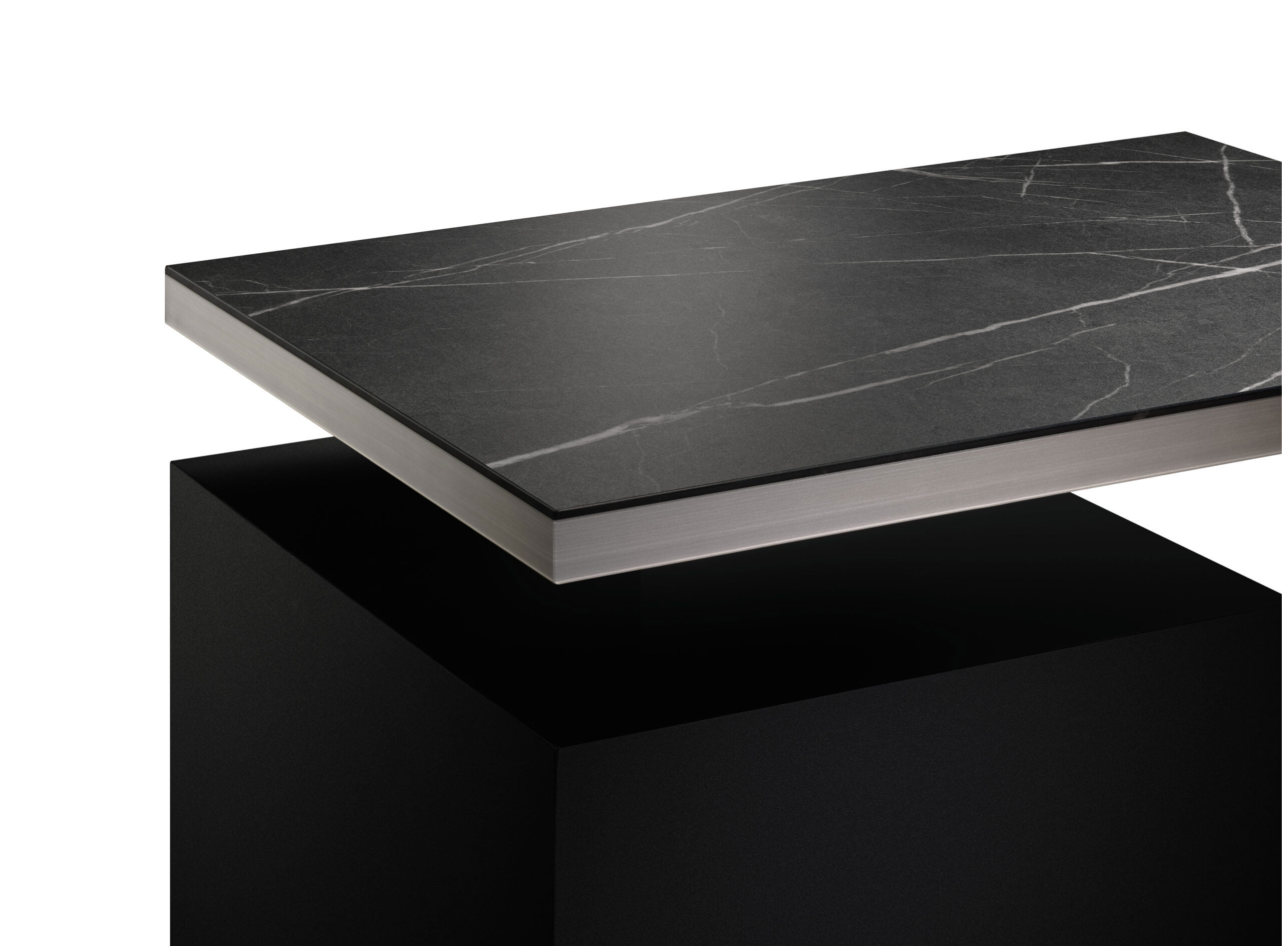 Egger Accent Egding showing black top and grey edge